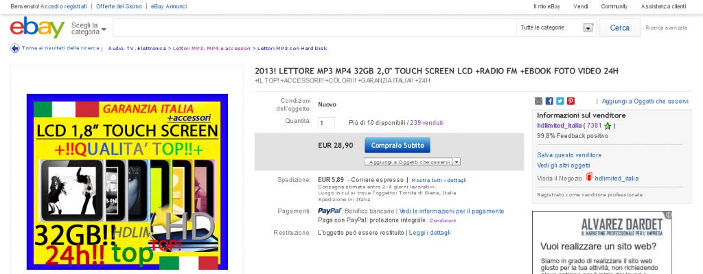 acquisto-ebay-hdlimited-mp3