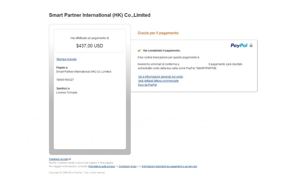 Honor6-acquisto-grazie_per_avere_effettuato_il_pagamento_-_PayPal