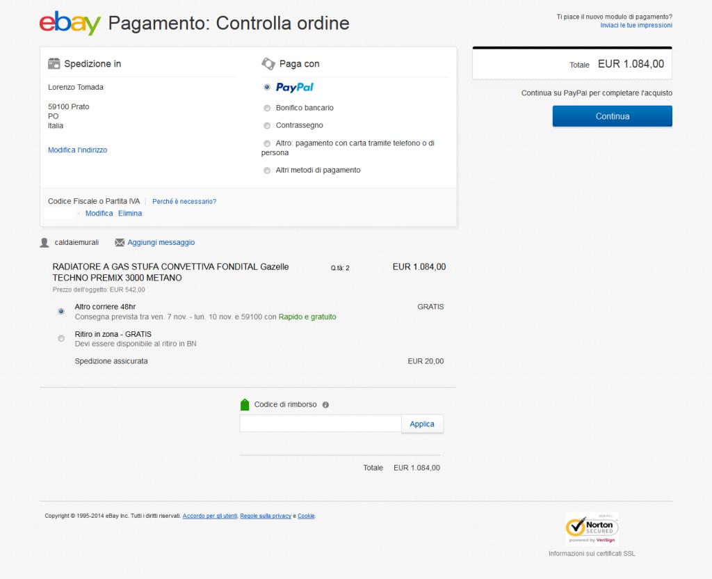 Caldaiemurali-inserzione-Ebay-pagamento