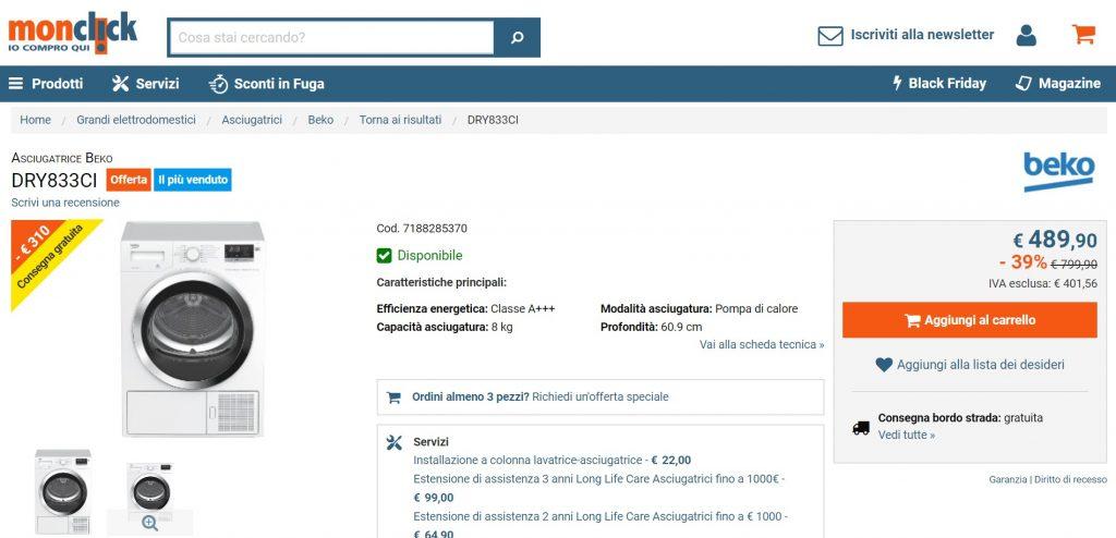 747e674238 Monclick opinioni, recensioni, commenti ed esperienze sull'acquisto ...