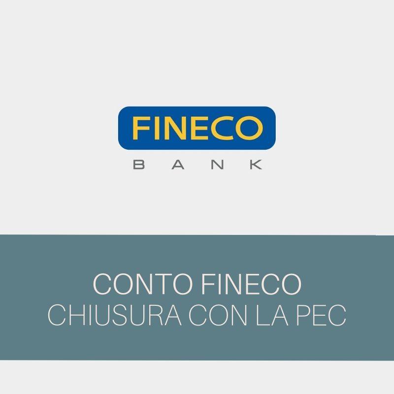 Chiusura Fineco PEC