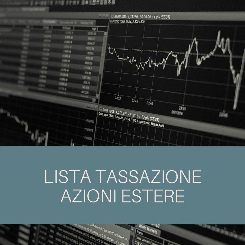 tassazione azioni estere