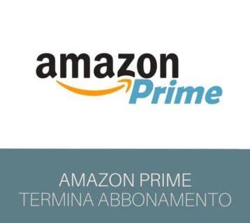 Amazon Prime disdetta